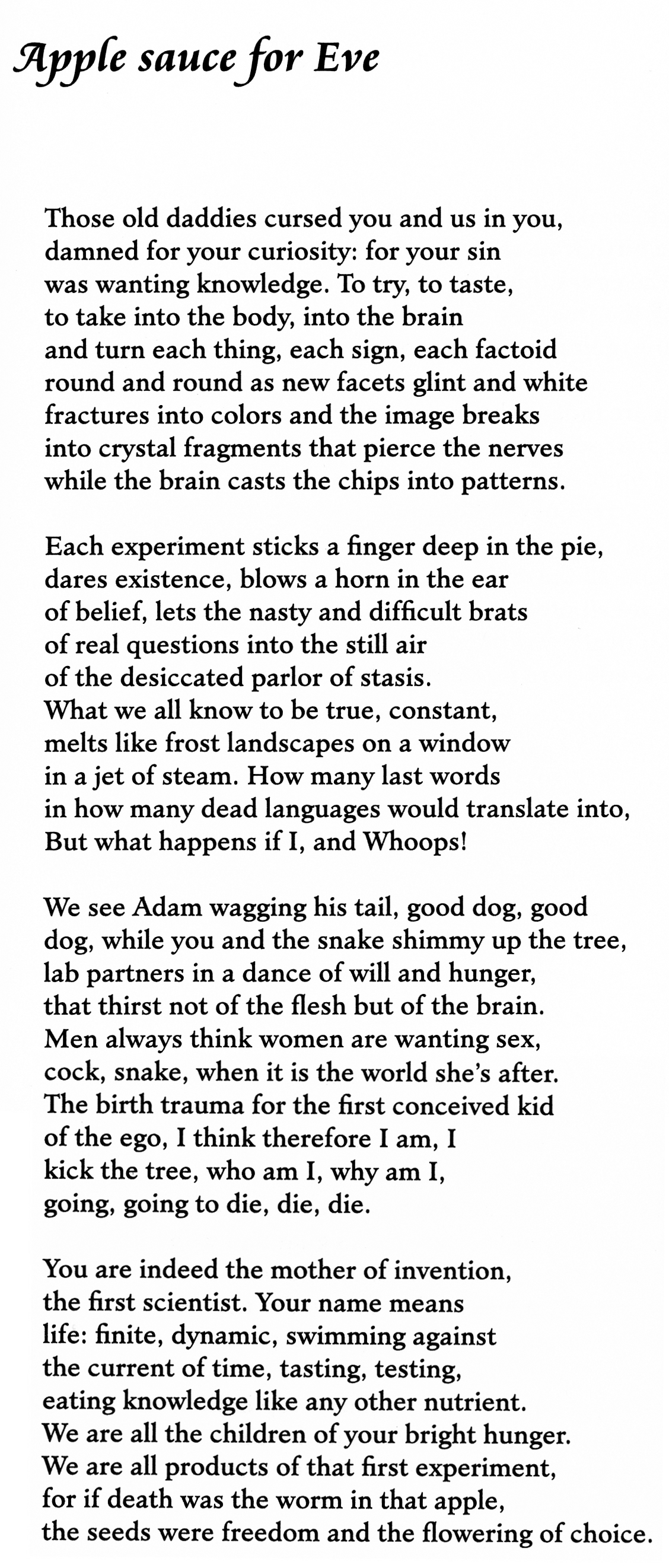 Marge Piercy Poems 3