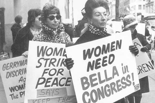 Women Protest the Dissolution of Bella Abzug's 19th Congressional District, 1972