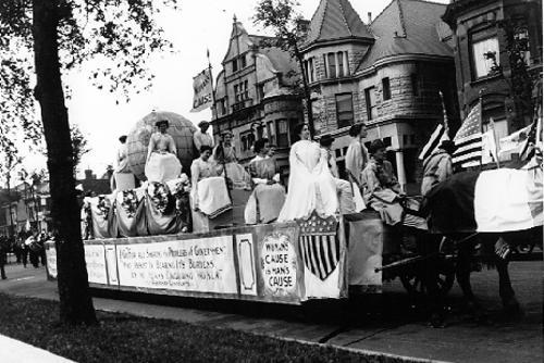 Parade of Suffragists, July 4, 1910