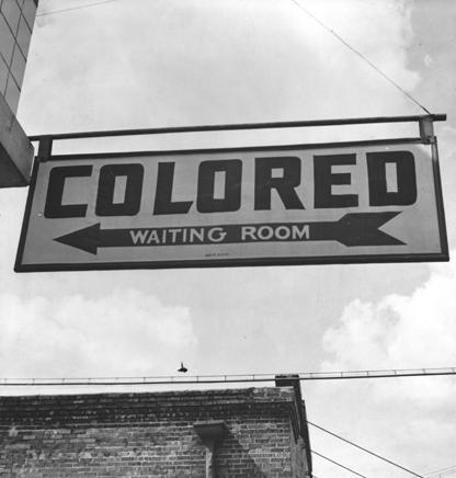 Sign for Colored Waiting Room, 1943