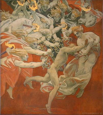 """Orestes Pursued by the Furies,"" 1921, by John Singer Sargent"