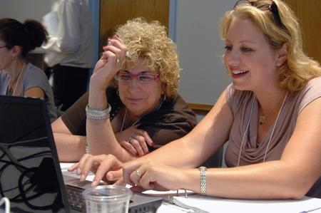 Educators Sharon Freed and Lottie Nilsen at JWA's 2011 Institute for Educators