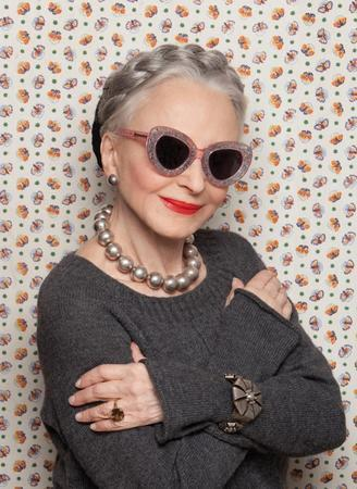 Joyce Carpati in Karen Walker Sunglasses