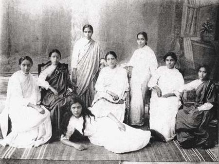 Rebecca Reuben's Hebrew Class at the Huzurpaga High School for Indian Girls, circa 1913
