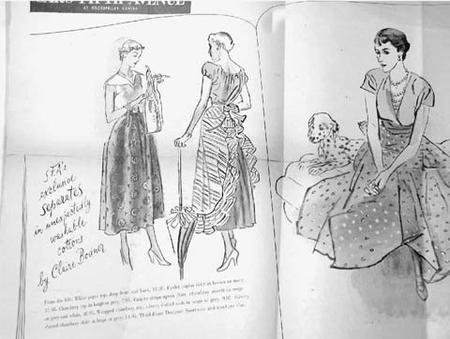 "Advertisement for Claire Bodner Designs from the ""New York Times,"" August 14, 1949"
