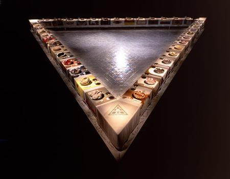 """The Dinner Party"" by Judy Chicago, 1979"