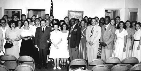 "Hillel Professionals at an ""Inter Racial Conference"" at the Southeastern Hillel Conference, 1948"