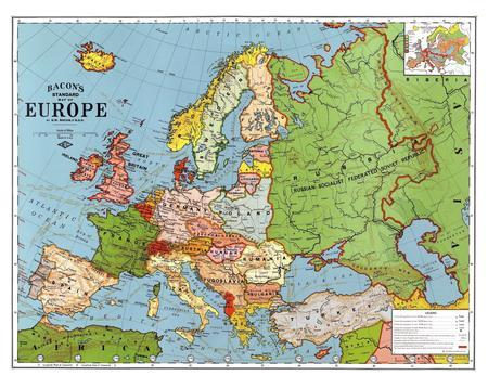 Map of Europe, 1923