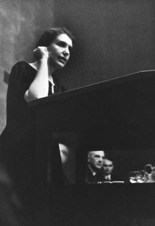 Anna Freud Speaking at the 1934 Psychoanalytic Congress in Lucerne, Switzerland