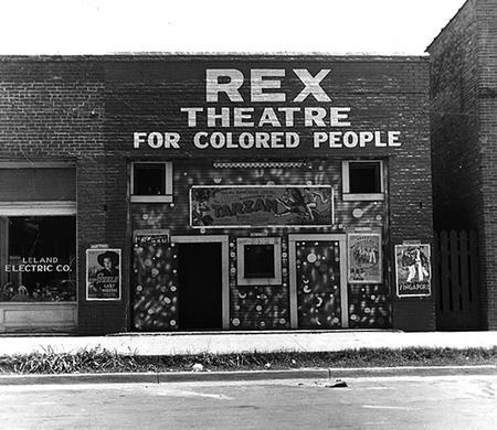 Rex Theater for Colored People by Dorthea Lange, 1937