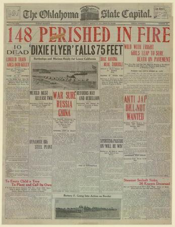 Triangle Factory Fire in the Oklahoma State Capital, March 26, 1911