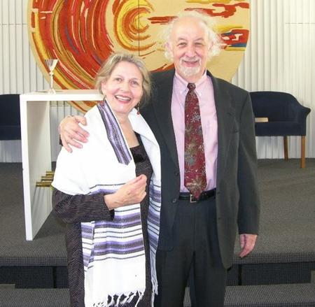 Bernice Kliman and her Husband at her Bat Mitzvah, December 2006