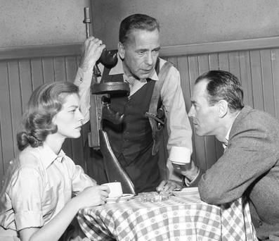 Lauren Bacall, Humphrey Bogart, and Henry Fonda, 1955