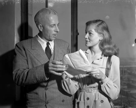 Lauren Bacall and Howard Hawks, circa 1943