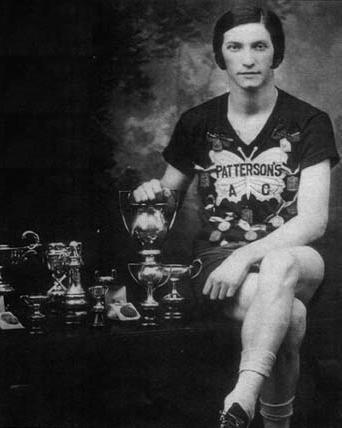 Bobbie Rosenfeld with her Trophies
