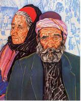 """Bukharian Couple"" by Ruth Light Braun, circa 1931"