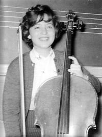 Barbara Dobkin with Cello, circa 1959