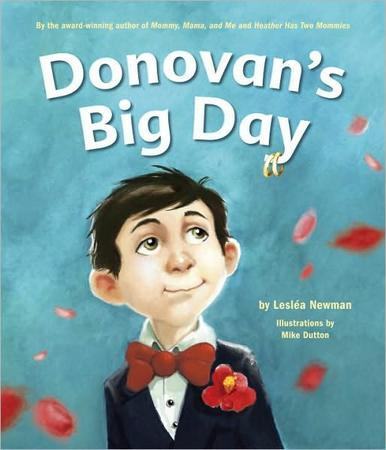 """Donovan's Big Day"" front Cover by Lesléa Newman"