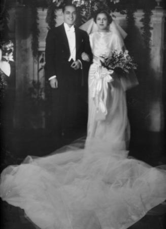 Edna Barrabee and Paul Barrabee on Their Wedding Day, 1936
