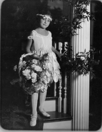 Edna Barrabee Grace as a Flower Girl