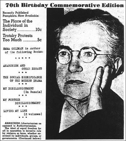 Emma Goldman's 70th Birthday, 1939