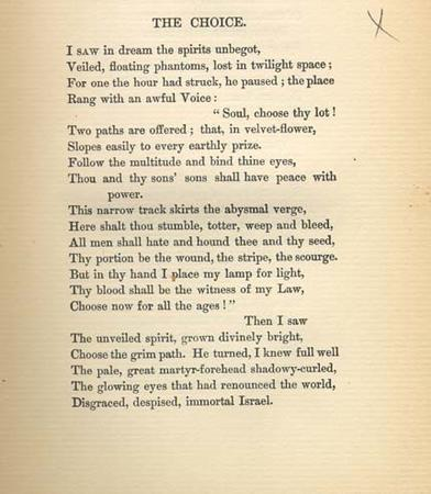 """The Choice,"" by Emma Lazarus, 1888"