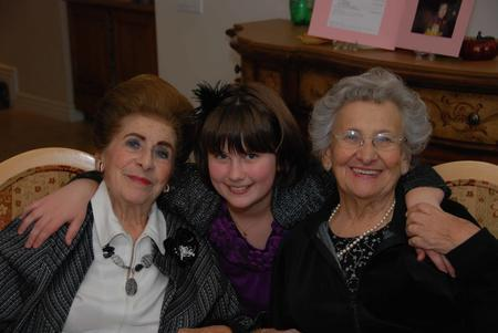 Eliana Melmed with her Two Great-Grandmothers