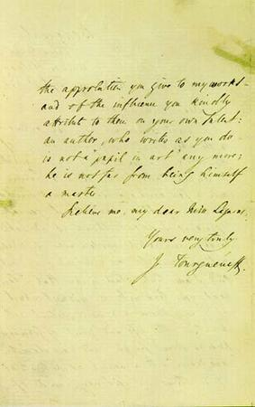 Letter from Ivan Turgenev to Emma Lazarus, September 2, 1874, page 2
