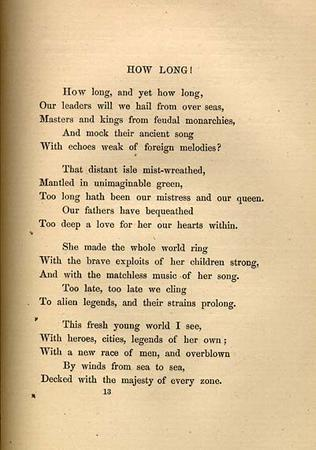 """How Long,"" by Emma Lazarus, page 1"