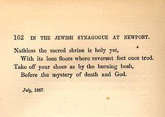 """In the Jewish Synagogue at Newport,"" By Emma Lazarus, page 3"
