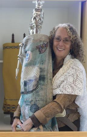 Elyse Goldstein with Torah