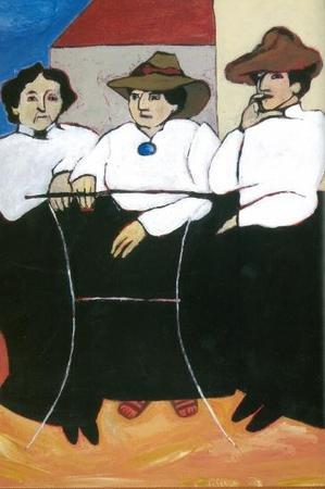 Illustration of Claribel Cone, Gertrude Stein, Etta Cone in Italy, 1903