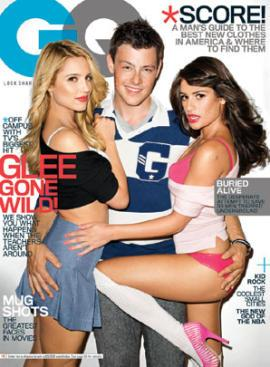 Glee Cast on GQ Magazine Cover, 2010