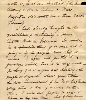 Letter from Gertrude Weil to her Family, November 20, 1898 - excerpt from page 11