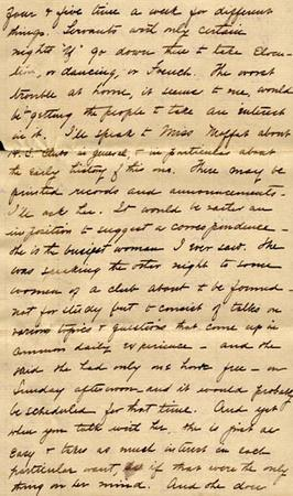 Letter from Gertrude Weil to her Family, November 20, 1898 - excerpt from page 12