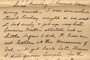 Letter from Gertrude Weil to her Family, March 29, 1896 - excerpt from page 3