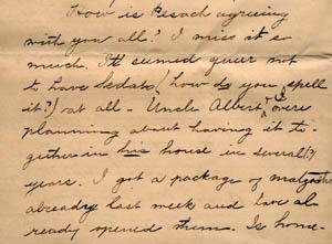 Letter from Gertrude Weil to her Family, March 29, 1896 - excerpt from page 4