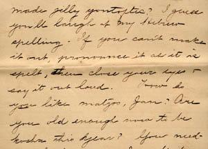 Letter from Gertrude Weil to her Family, March 29, 1896 - excerpt from page 5