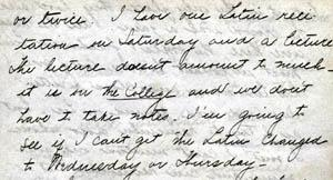 Letter from Gertrude Weil to her Family, September 26, 1897 - excerpt from page 3