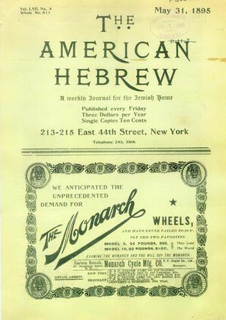 The American Hebrew, May 31, 1895