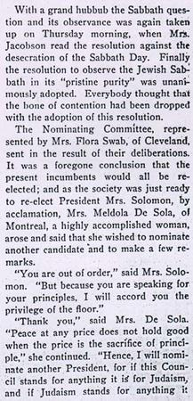 Report of the Convention of Council of Jewish Women from American Jewess, April, 1898, Part 3