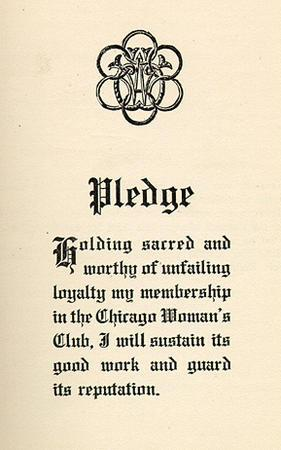 Chicago Woman's Club Pledge