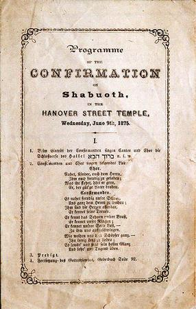 Henrietta Szold's Religious Confirmation at Oheb Shalom Congregation, 1875