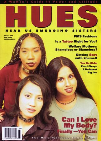Cover of HUES Magazine, 1996