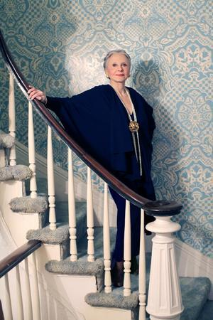 Joyce Carpati on Staircase