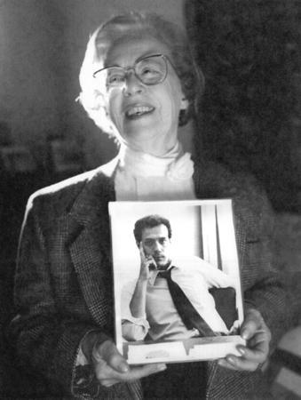 Jeanne Manford with a Photograph of Marty, 1993