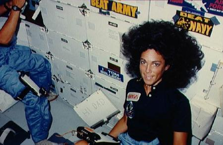 Judith Resnik in Space, September 8, 1984