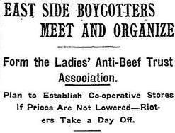 """East Side Boycotters Meet and Organize,"" New York Times, 1902"