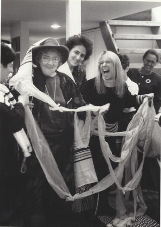 Letty Cottin Pogrebin with Bella and Eve Abzug, 1990