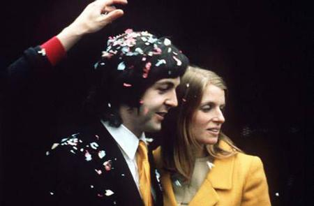 Linda Eastman and Paul McCartney, March 13, 1969